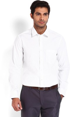 Nord51 Men's Solid Formal White Shirt