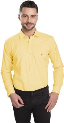 Ishin Designer Studio Men's Solid Casual Beige Shirt