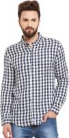 Chill Winston Formal Shirts (Men's) - Chill Winston Men's Checkered Formal Blue, White Shirt