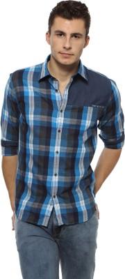 Derby Jeans Community Men's Checkered Casual Blue, Dark Blue Shirt