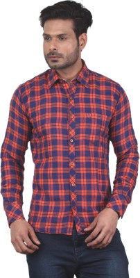 Tabard Men's Checkered Casual Red Shirt