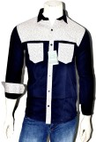 Indian Touch Men's Printed Casual Dark B...