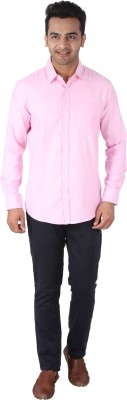 Tasho Zaara Men,s Solid Casual Pink Shirt