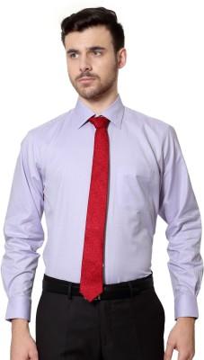 Van Heusen Men's Printed Formal Purple Shirt