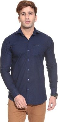 Stylistry Men's Solid Casual Blue Shirt