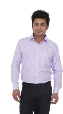 Aces Blue Men's Solid Formal Purple Shirt