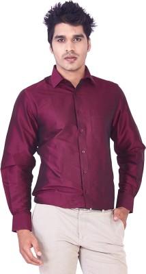 Mark Anderson Men's Solid Casual Maroon Shirt