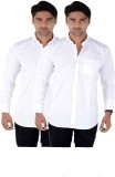 Shivam Garments Men's Solid Formal White...
