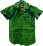 Angel Kids Boys Solid Party Green, Green...