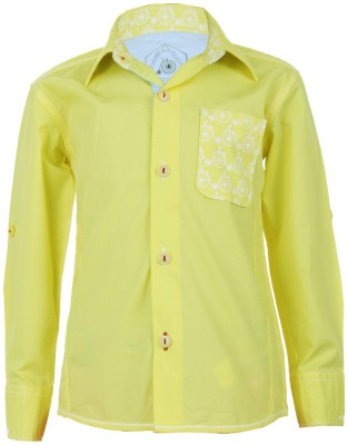 Biker Boys Boy's Printed Casual Yellow Shirt