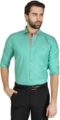 Redcountry Men's Solid Casual Green Shirt