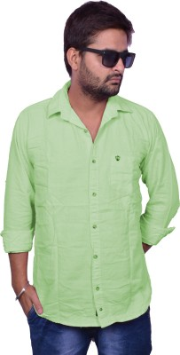 Nation Polo Club Men's Solid Casual Light Green Shirt