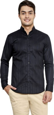 Smile By Nature Men's Solid Casual Black Shirt