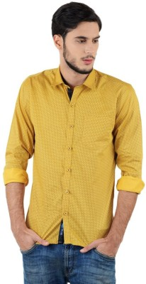 Triple Eight Men's Printed Casual Gold Shirt
