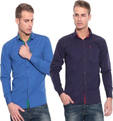 Pazel Men's Solid Casual Multicolor Shirt