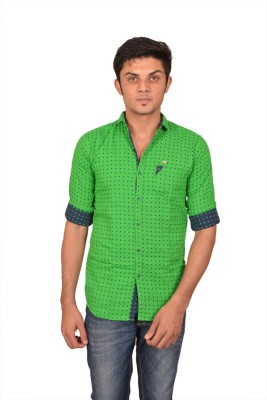 Suzee Men's Solid Casual Green, Blue Shirt
