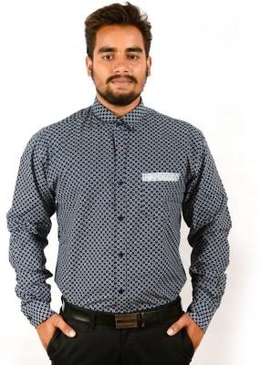 Sonute Berry Men's Printed Casual Blue Shirt