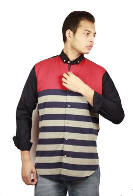 Etyhas Collections Men's Checkered Casual Blue, Red Shirt