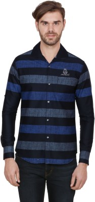 Alive Sport Men's Striped Casual Blue Shirt