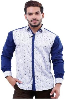 La MODE Men's Solid Casual Blue Shirt