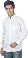 B rock Formal Shirts (Men's) - B-Rock Men's Solid Formal White Shirt