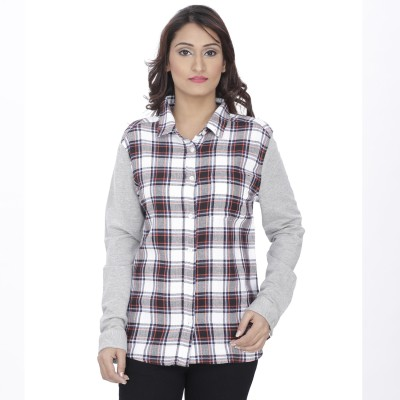 The Cleavage Women's Checkered Casual Multicolor Shirt