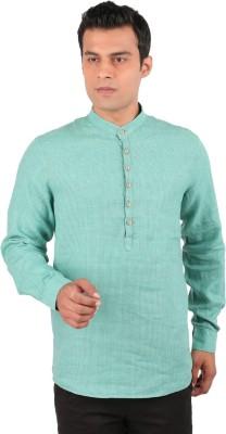J Hampstead Men's Checkered Casual Green Shirt