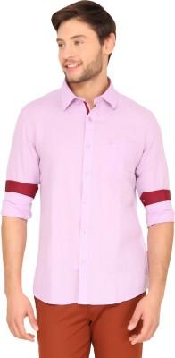 Classic Polo Men's Checkered Casual Purple Shirt