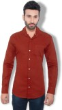 One Sphere Men's Solid Casual Maroon Shi...
