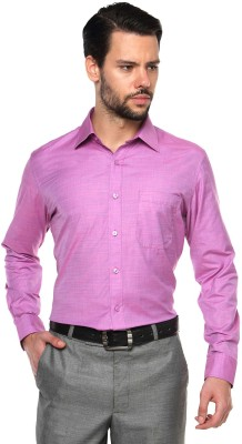 British Club Men,s Solid Formal Purple Shirt