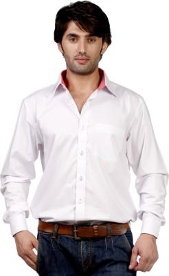 Hugo Chavez Men's Solid Formal White Shirt