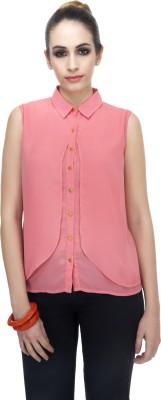 Zaivaa Women's Solid Formal Pink Shirt