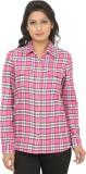 Addyvero Women's Checkered Casual Pink, ...