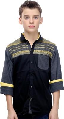 Mash Up Boy's Printed Casual Yellow Shirt