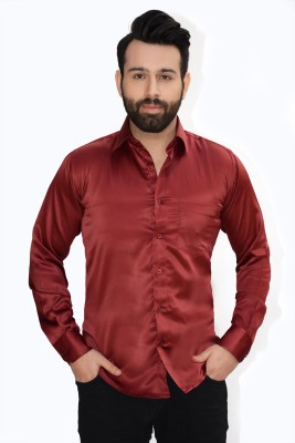 Big Brother Men's Solid Casual Maroon Shirt