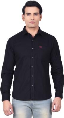 Moustache Men's Solid Casual Black Shirt