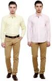 Flutter Men's Solid Formal Multicolor Sh...