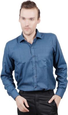 Jorzzer Roniya Men's Solid Casual Blue Shirt