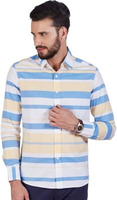 American Swan Men's Striped Casual Multicolor Shirt
