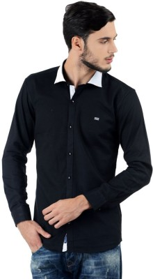 Triple Eight Men's Solid Casual Black Shirt