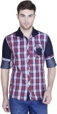 Human Steps Men's Checkered Casual Red S...