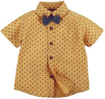 Fisher-Price Baby Boy's Printed Casual Beige Shirt