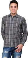 Cotton County Formal Shirts (Men's) - Cotton County Men's Checkered Formal Grey Shirt