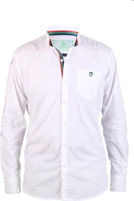 Hash Luxury Men,s Solid Party White Shirt