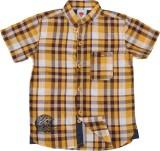 Ice Boys Boys Checkered Casual Yellow Sh...