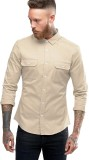 Essential Men's Solid Casual White Shirt