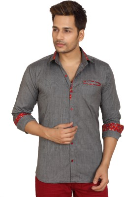 Trustedsnap Men's Solid Casual Grey Shirt