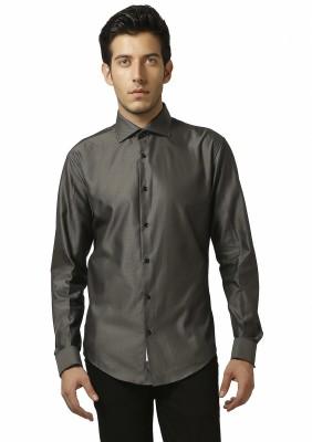 Karsci Men's Self Design Lounge Wear Brown Shirt