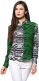 Abiti Bella Women's Printed Casual Green...