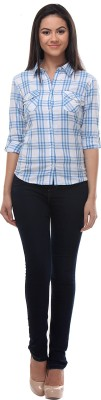 Petipack Women's Checkered Formal Multicolor Shirt